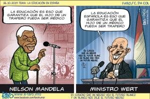 131026.Ignacio.wert.Nelson.Mandela.educacion.espana.LOMCE.educacion