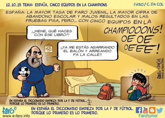 151012--FB-espana-educacion-futbol-nene-padre-pelota-libro-cama-estudiar-champions
