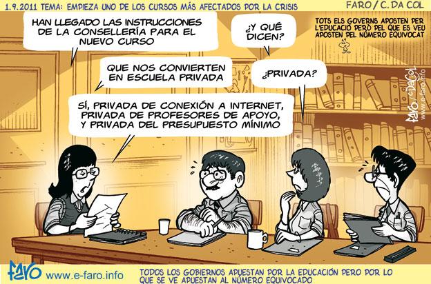 Viñetas y chistes gráficos sobre educación